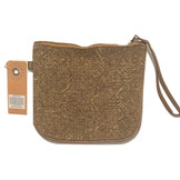 Earth Axxessories Natural Kilim Brown Wristlet Bag, Made in India