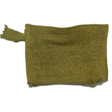 Earth Axxessories Natural Kilim Green Makeup Bag, Made in India