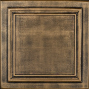 R 24 Styrofoam Ceiling Tile - Antique Brass