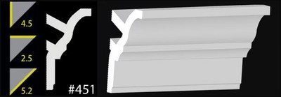 CC451 DIY Foam Crown Molding - Plain White