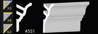 CC551 DIY Foam Crown Molding - Ultra Pure White - Satin (Behr)
