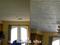 Spanish Silver – Styrofoam Ceiling Tile – Plain White Installed Living and Dining