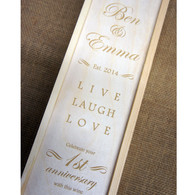 Wooden Personalised Winebox