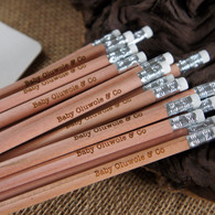 Wooden Personalised Long Round Pencils