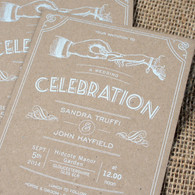Kraft Wedding Invitations - Celebration