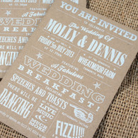 Kraft Wedding Invitations - Funfare