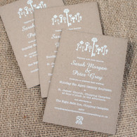 Kraft Wedding Invitations - Keys