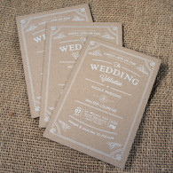 Kraft Wedding Invitations - Vintage Flourish
