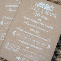 Kraft Wedding Invitations - Vintage Rose