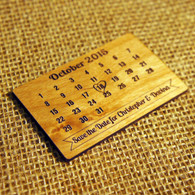 Save the Date Alder wood Calendar Magnet