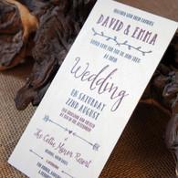 Printed Wooden Wedding Invitation