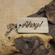Engraved Driftwood Keyring - Ahoy