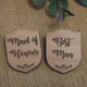 Engraved Wooden Wedding Party Badges - Maid of Honour, Best Man