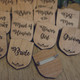 Engraved Wooden Wedding Party Badges