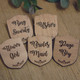 Engraved Wooden Wedding Party Badges - Ring Security, Usher, Flower Girl, Bridesmaid, Page Boy