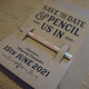 Pencil Us In - Personalised Pencil, Backing Card & Envelope - Save the Dates