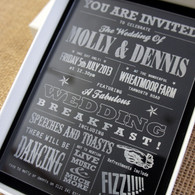 Acrylic Wedding Invitations - Funfare