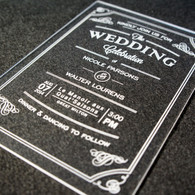 Acrylic Wedding Invitations - Vintage Flourish