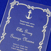Clear Acrylic Wedding Invitation - Nautical