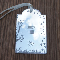 Mirrored Acrylic Wedding Place Names. Also available in clear or mirrored Acrylic - Butterflies Luggage Tag