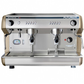 Superior Quality 2 Group Head Tall Coffee Machine with digitally controlled functions. Quarter turn steam knobs for ease of use.