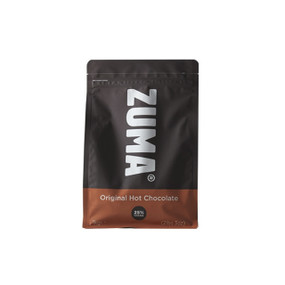 Zuma Original Hot Chocolate is a traditional smooth, sweet and creamy chocolate with 25% cocoa (vegetarian & vegan)