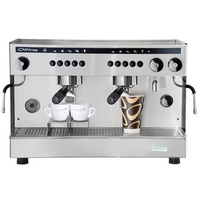 The Ottima two group commercial electronic espresso machine is the latest machine from Quality Espresso. This XL Tall model allows for the use of take away cups.