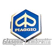 Vespa PX / PK / T5 Scooter PIAGGIO LOGO CLIP-IN HORNCAST HEX BADGE