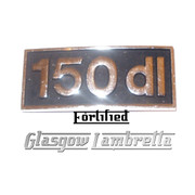 Lambretta 150 dl DIECAST METAL SILVER & BLACK LEGSHIELD BADGE (Orig spec)