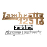 Lambretta LD 125 CHROME LEGSHIELD BADGE by FORTIFIED (Original spec)