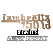 Lambretta LD 150 CHROME LEGSHIELD BADGE by FORTIFIED (Original spec)