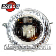 Vespa PX (early model) Italian CLEAR HEADLAMP / HEADLIGHT UNIT by BOSATTA