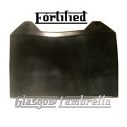 FORTIFIED Lambretta GP BLACK RUBBER REAR MUDFLAP orig Italian spec + Li,SX,TV