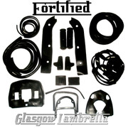 FORTIFIED Lambretta s3 Li Special BLACK RUBBERS & BEADINGS SET inc Grips / Pedals