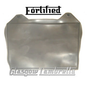 FORTIFIED Lambretta GP GREY RUBBER REAR MUDFLAP orig Italian spec + Li,SX,TV