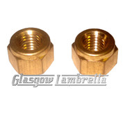 Lambretta Series 2 & 3 Scooter EXHAUST BRASS NUTS x 2 Li/SX/TV/GP/Special