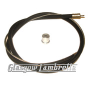 Lambretta s1, s2 & s3 BLACK REAR BRAKE CABLE + FERRULE / TOP HAT Li/SX/TV/GP/Special