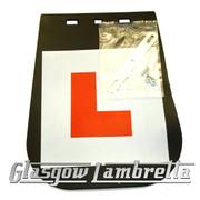 Lambretta L LEARNER PLATE MUDFLAP Li/SX/TV/GP/Special