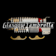 Carbone Italian Top Quality Vespa PX, T5 & LML WHITE SHOCK ABSORBERS SET