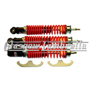 Carbone Italian Quality Vespa GT, GTS, GTV RED & BLACK FRONT / REAR SHOCK ABSORBER SET