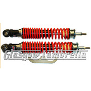 Carbone Italian Quality Vespa GT, GTS, GTV RED & BLACK REAR SHOCK ABSORBER SET
