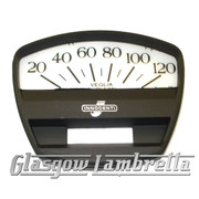Lambretta GP 125/150/200 Scooter BLACK SPEEDO / SPEEDOMETER FACE 120km/h