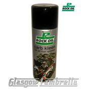 ROCK OIL CARB KLEEN CARBURETTOR / FUEL INJECTION CLEANING SPRAY 400ml Aerosol for all Scooters