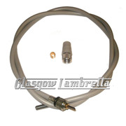 Vespa GS/Rally/Sprint etc Italian Screw-In SPEEDO / SPEEDOMETER CABLE INNER & OUTER (TEFLON)