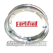 Set of 2 x  FORTIFIED Vespa / LML  Top Quality 350 x 10 CHROME SPLIT WHEEL RIMS Italian Spec