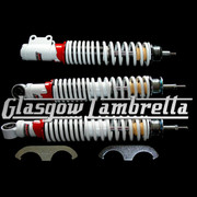 Carbone Italian Quality Vespa GT, GTS, GTV WHITE FRONT / REAR SHOCK ABSORBER SET
