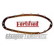FORTIFIED Quality Lambretta Series 2, 3 + GP  2mm CORK SIDE / CHAIN CASE GASKET x 1 UK Made Li, TV, SX