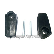 Lambretta Series 3 SIDE PANEL HANDLE / LEVERS INNER PLASTIC SLEEVES inc PINS Li, SX, TV, Special