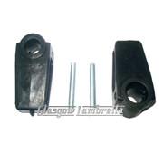 Lambretta Series 3 SIDE PANEL HANDLE / LEVERS INNER PLASTIC SLEEVES inc PINS Li, SX, TV, Special