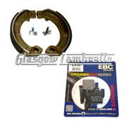 Vespa PX, T5 & LML Disc Models EBC FRONT BRAKE PADS + FERODO REAR BRAKE SHOES SET
